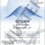 Gift Voucher for Tailor-Made Shirt 35 EUR