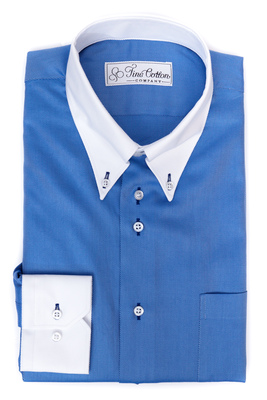 Maßhemd Malet - Button-Down-Kragen
