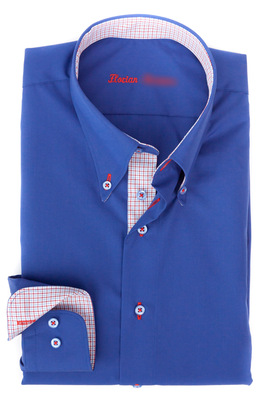 Maßhemd Wessex - Button-Down-Kragen