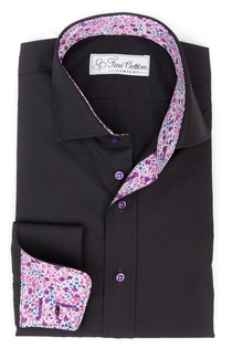 Aderkas Tailored Shirt, Contrast: Phoebe, violet