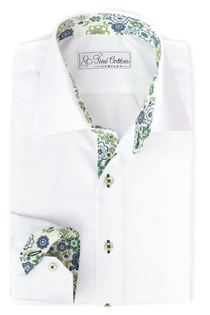 Bovelino Tailored shirt, White - Contrast: Lauren